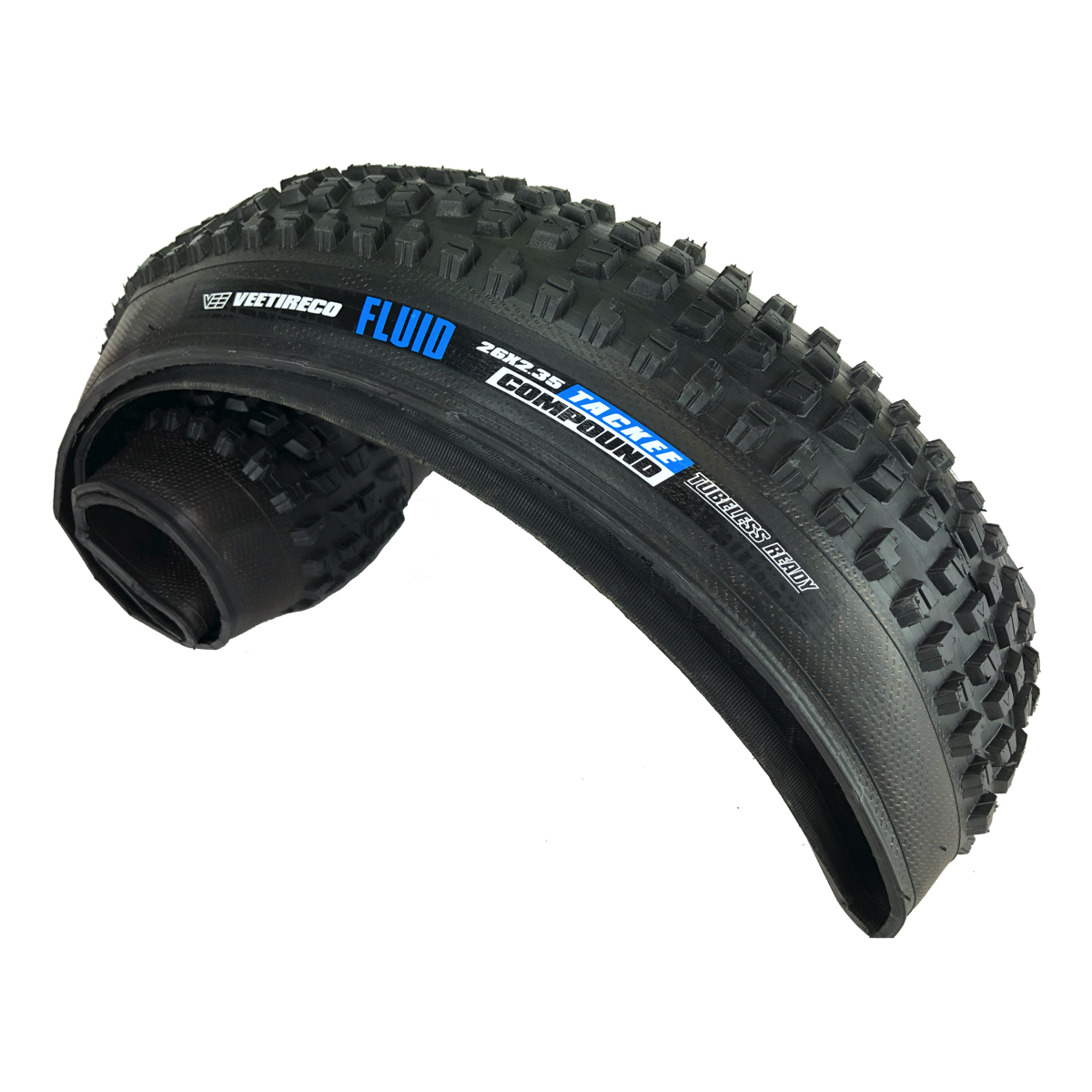 2 Rubber Fluid 26x2.50 Pair Of Bicycle Tires Folding Bead Tackee Compound Vee